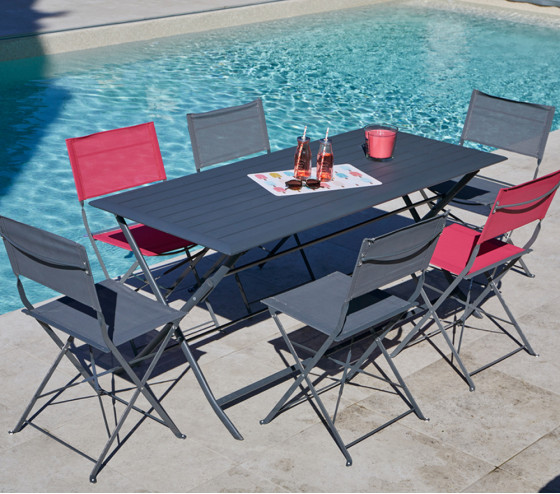 Table de jardin pliante BAYONNE XL
