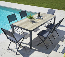 Table de jardin rectangulaire TIMOR - Bois