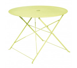 n- Table de jardin pliante BELLAGIO - vert pomme