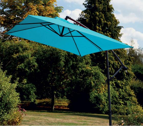 Parasol déporté SUPERKING 3X2m - Bleu canard