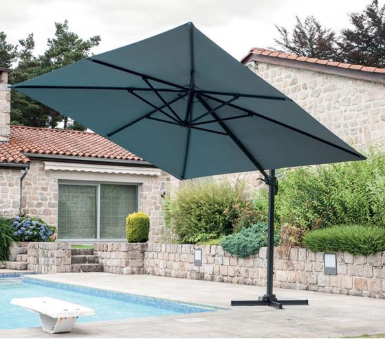 Toile pour parasol déporté carré LUXEKING - Gris anthracite
