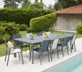 Table de jardin extensible SEYCHELLES - 6P