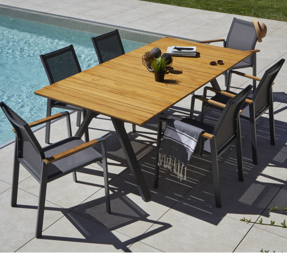 Table de jardin rectangulaire CINCINNATI