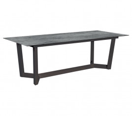 Table de jardin rectangulaire JUL - Gris