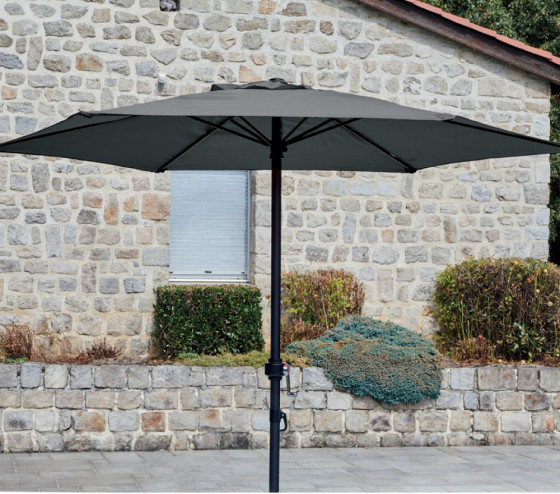 Parasol droit YUMA Ø2m Gris anthracite