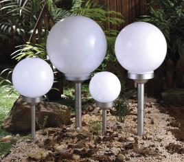 Lot de 4 boules solaires avec pique