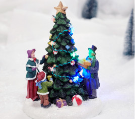 Village lumineux - Décoration du sapin de Noël