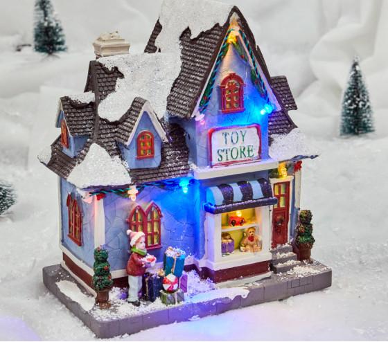 Village lumineux - Magasin de jouets